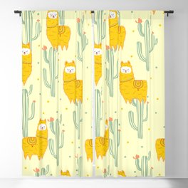 Alpaca summer pattern Blackout Curtain