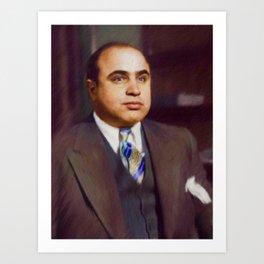 Al Capone, Gangster Art Print