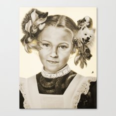 Childhood Pets Canvas Print