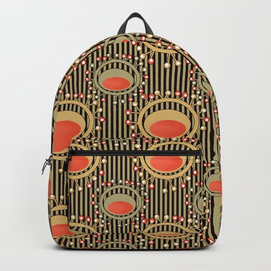 Abstract yellow and grey pattern . Backpack