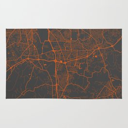 Louisville map 2 Rug