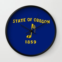 Musical Oregon State Flag Wall Clock