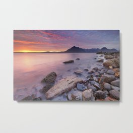 II - Spectacular sunset at the Elgol beach, Isle of Skye, Scotland Metal Print