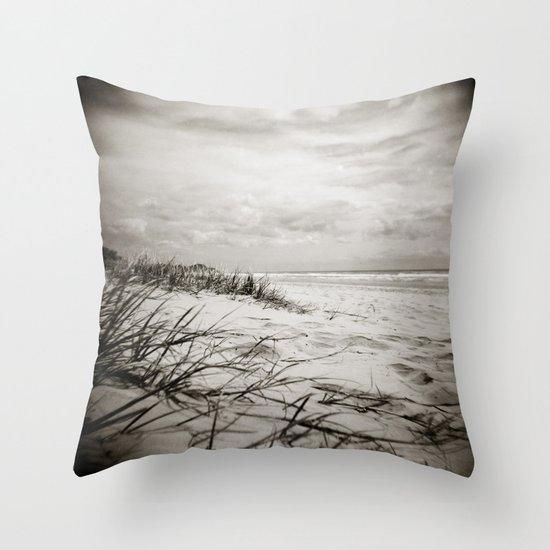 { sand, surf, sun } Throw Pillow