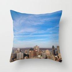 Montreal Skyline Throw Pillow