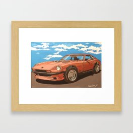 Datsun 280z power tour Framed Art Print