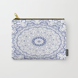 Blue Kaleidoscopic Carry-All Pouch