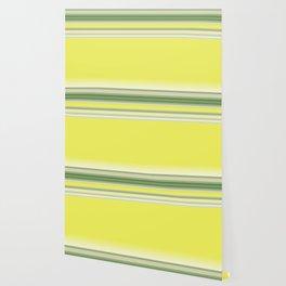 Bright Yellow Green Stripes Wallpaper