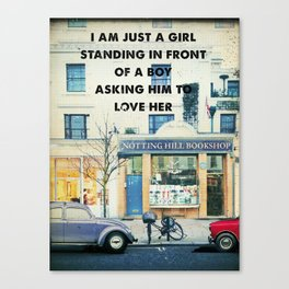 Notting Hill travel movie art Canvas Print