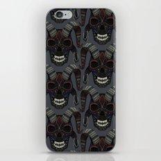 demon skull charcoal iPhone & iPod Skin