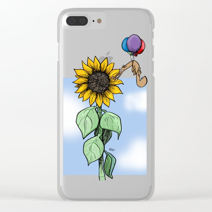 Floating toward a dream Clear iPhone Case
