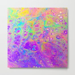 Rainbow Psychedelic Bubbles Metal Print