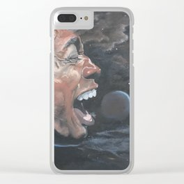 """""""HE'S FROM SPACE"""" Clear iPhone Case"""