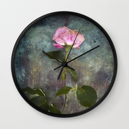 Single Wilted Rose Wall Clock