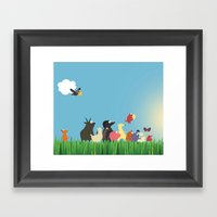 What's going on the farm? Kids collection Framed Art Print