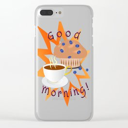 Good Morning! Clear iPhone Case