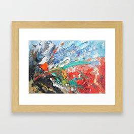 Red Emission Framed Art Print