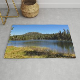 USA Lassen Volcanic Nature Lake Parks Forests Grass park forest Rug