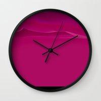 pantone Wall Clocks featuring PANTONE #4 by Leonardo Tezcucano