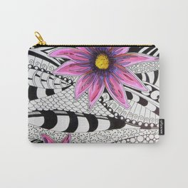 Zentangle Flowers Carry-All Pouch