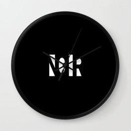 Simple Noir Wall Clock