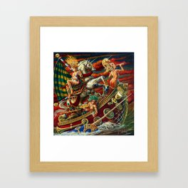 Party Boat to Atlantis Framed Art Print