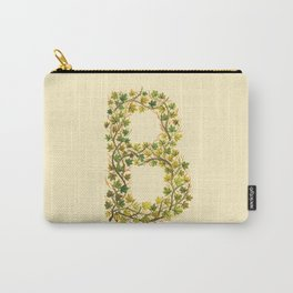 Leafy Letter B Carry-All Pouch