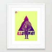 illuminati Framed Art Prints featuring ILLuminati by Jimi Thompson