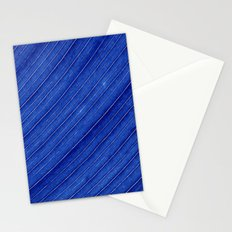 blue leaf II Stationery Cards
