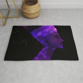 Queen Nefertiti Nebula Dark Stardust Rug