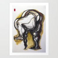 Linear Gesture Art Print