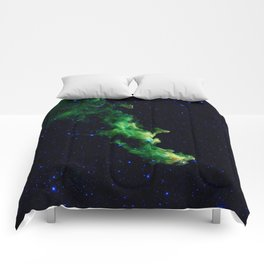 Galaxy: Green Witch's Head Nebula Comforters