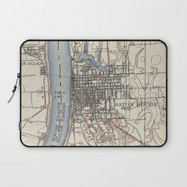 Vintage Map of Baton Rouge Louisiana (1906) Laptop Sleeve