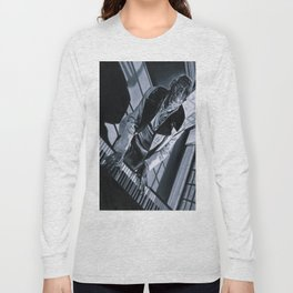 Blues Man With Piano Long Sleeve T-shirt