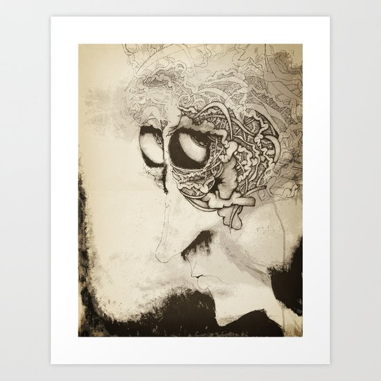 by-by brain Art Print