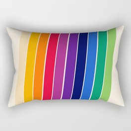 Awe Yeah - 70s style retro throwback 1970s rainbow colorful trendy graphic art Rectangular Pillow