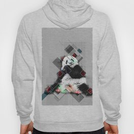 Cute colorful collage Panda Hoody