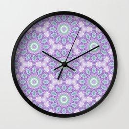 Lavender & Emerald Mandala Pattern Wall Clock