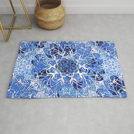Sapphire Crochet Mandala Rug