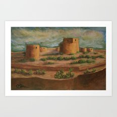 Spanish Fortress AC160703a Art Print