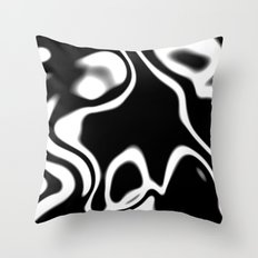 Black and White swirl abstract Throw Pillow