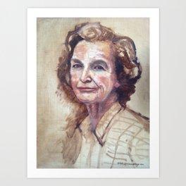 Grandma B. Art Print