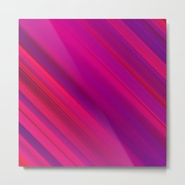 Abstract watercolor colorful lines Metal Print