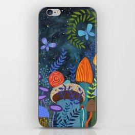 mushroom magic iPhone Skin