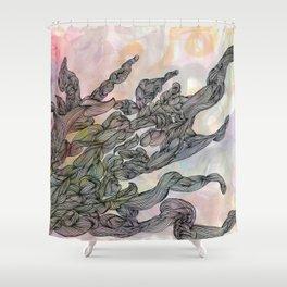 Borderline Shower Curtain