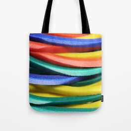 Colored Rubbers Stack Tote Bag