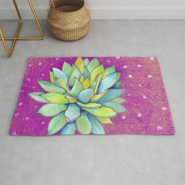 Whimsical Succulent Rug