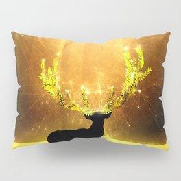 Greenery Deer - Golden Sun Pillow Sham
