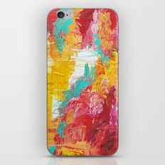 AUTUMN SKIES - Amazing Fall Colors Thunder Storm Rainy Sky Clouds Bold Colorful Abstract Painting iPhone Skin