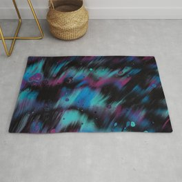 stains bubbles paint liquid macro abstraction Rug